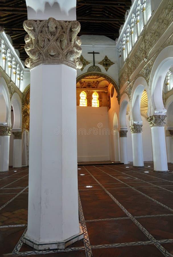 Synagoge of kerk van Blanca van La van Kerstmanmariiâa in Toledo stock fotografie