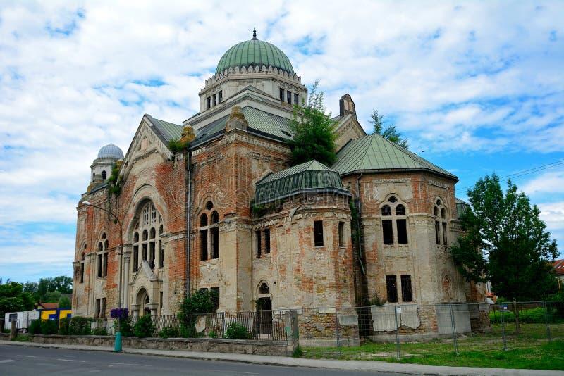 Synagoge, Lucenec, Slowakei stockbilder