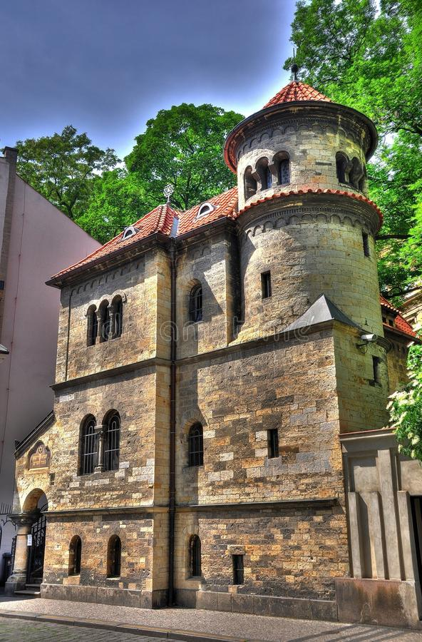 Synagoge In Prag HDR Stock Image