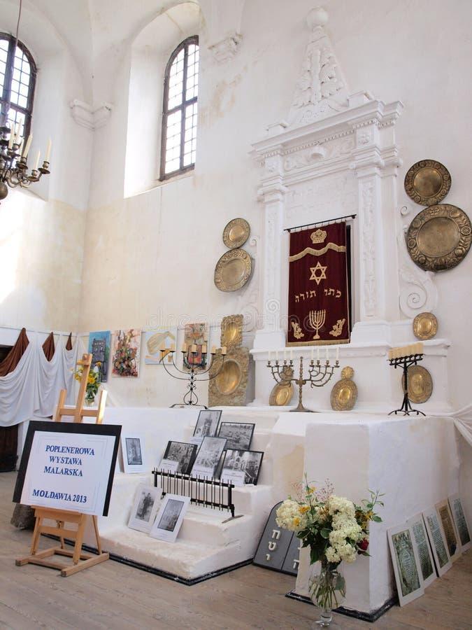 Synagoge in Szydlow, Polen stockfotografie