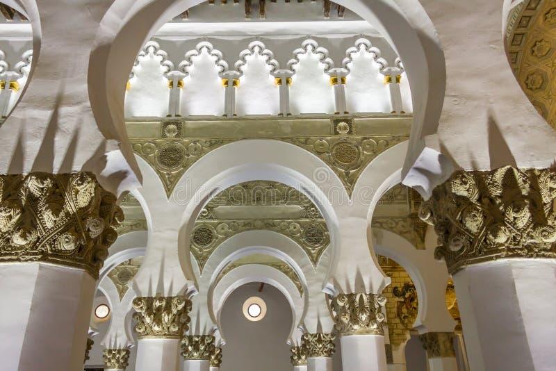 Synagoge Toledo stock afbeeldingen