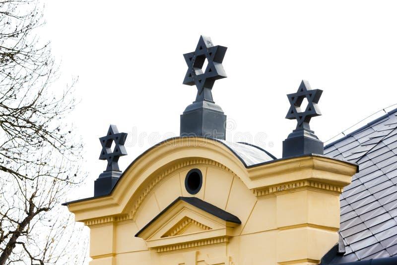 Synagoge, Trebic royalty-vrije stock afbeeldingen