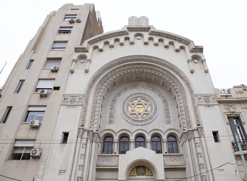 Synagoge van de Israelitische Argentijnse Congregatie in Buenos aires, Argentinië stock afbeelding