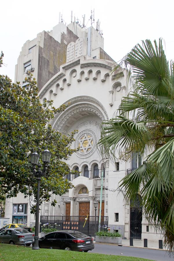 Synagoge van de Israelitische Argentijnse Congregatie in Buenos aires, Argentinië stock foto
