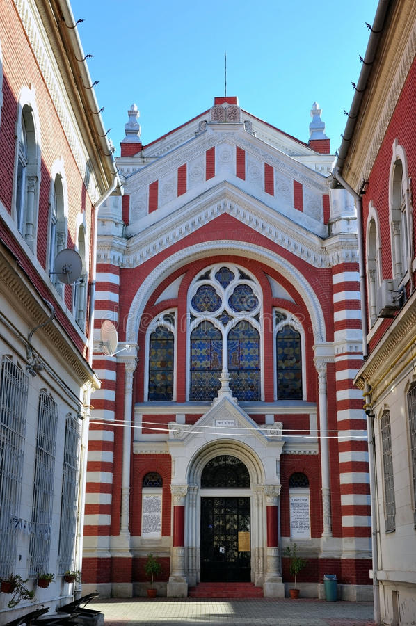 Synagogue in Brasov, Transylvania stock images
