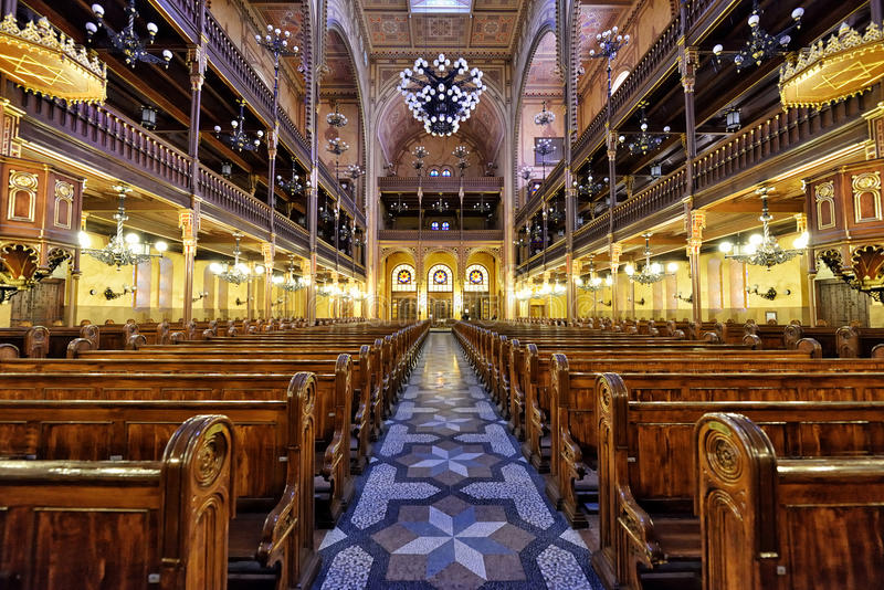 Synagogue in Budapest stock image