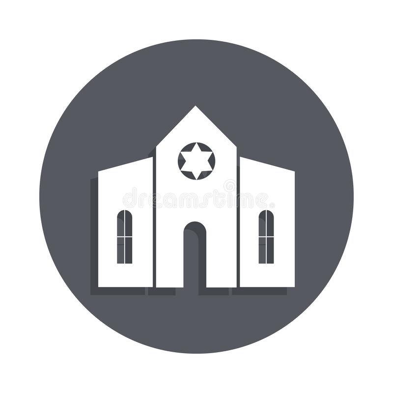 Synagogue building icon in badge style. One of Buildings collection icon can be used for UI, UX vector illustration