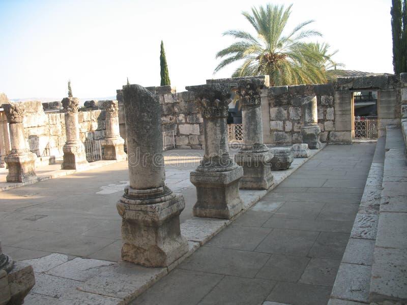 Synagogue in Capernaum stock photos