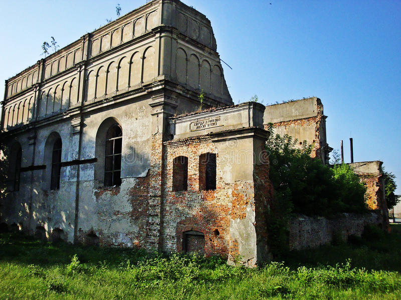 Synagogue dans Brody, Ukraine photographie stock
