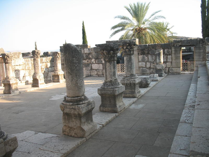 Synagogue dans Capernaum photos stock