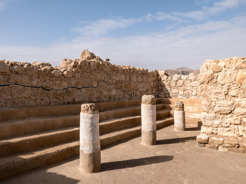Synagogue de Masada image stock