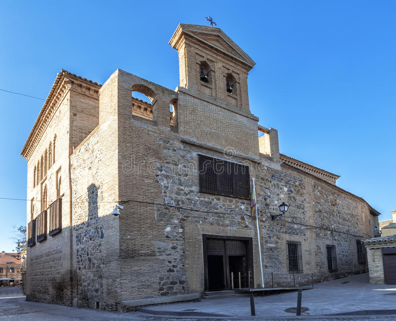 Synagogue del Transito in Toledo, Spanje royalty-vrije stock afbeelding