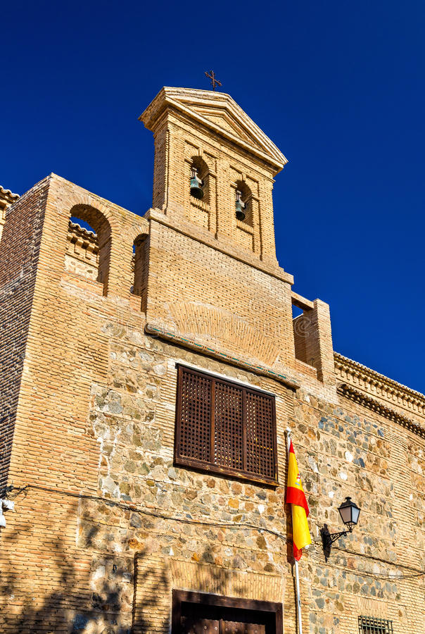 Synagogue of El Transito in Toledo, Spain. Now it is a museum royalty free stock image