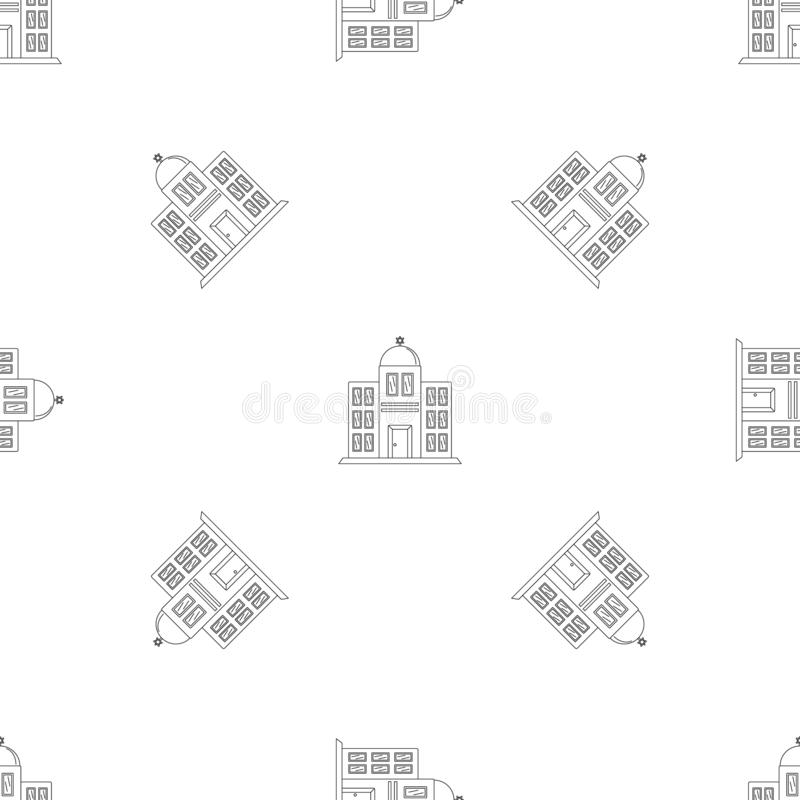 Synagogue icon, outline style vector illustration