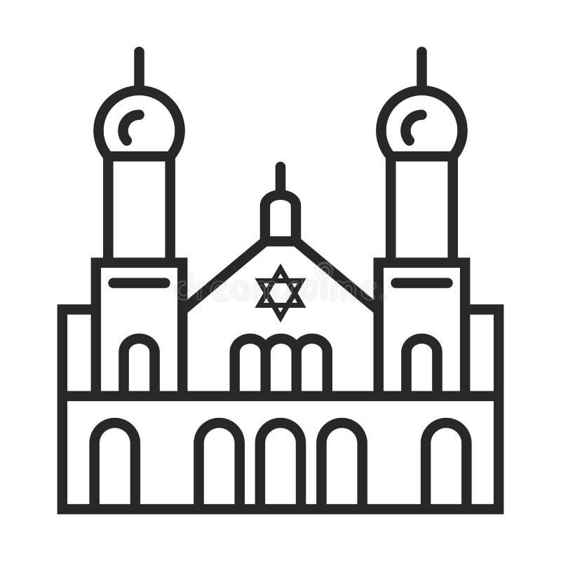 Synagogue icon stock illustration