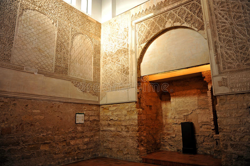 Synagogue in the Jewish Quarter of Cordoba, Spain stock photography