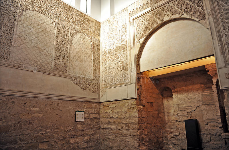 Synagogue in the Jewish Quarter of Cordoba, Spain royalty free stock image