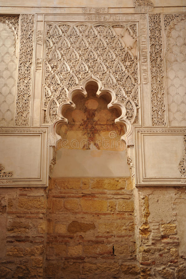Synagogue in the Jewish Quarter of Cordoba, Spain stock images