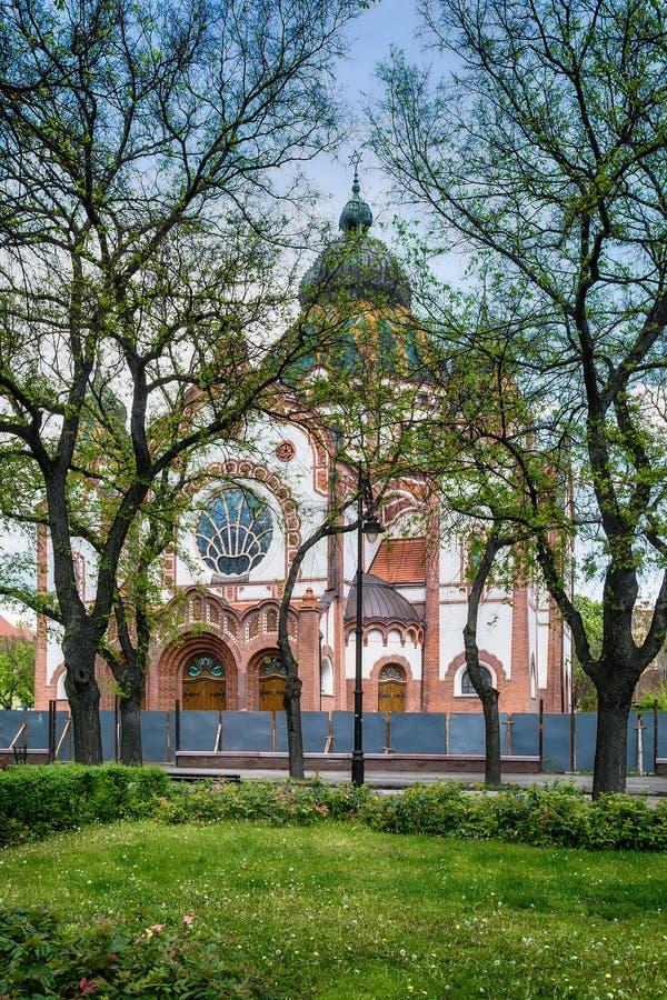 Synagogue juive dans la ville de Subotica, Serbie photos stock