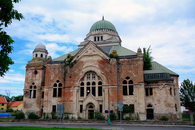Synagogue, Lucenec, Slovakia. Synagogue ruins in Lucenec, Slovakia royalty free stock photos