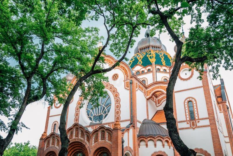 Synagogue Subotica art Nouveau style architectural à Subotica, Serbie images libres de droits