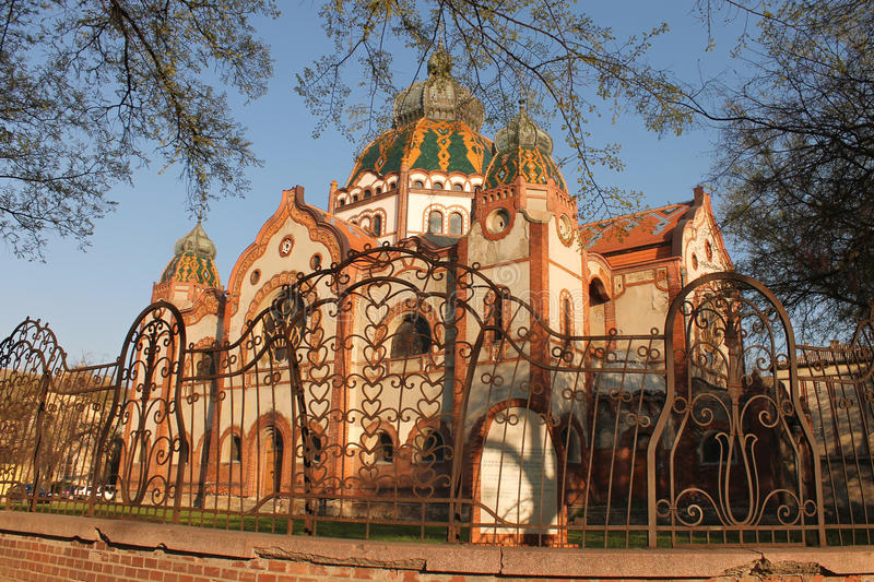 Synagogue in Subotica stock photo