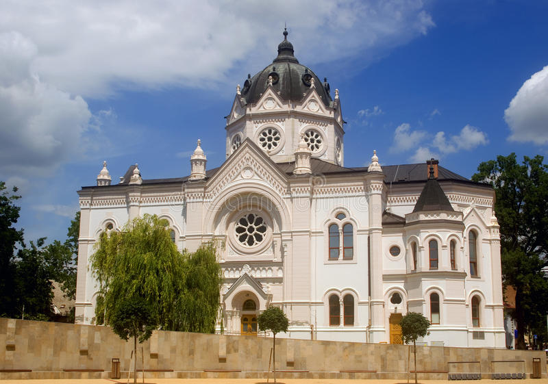 Synagogue, Szolnok, Hungary. The building of the former Jewish synagogue in Szolnok royalty free stock photography