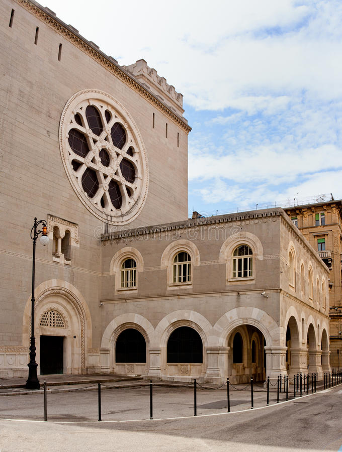Synagogue in Trieste stock photography