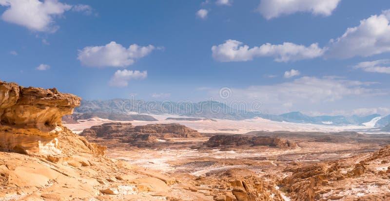Synaj pustyni krajobraz zdjęcie royalty free