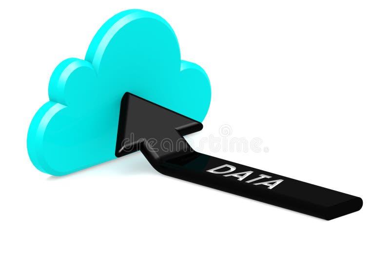 Sync aan wolk vector illustratie