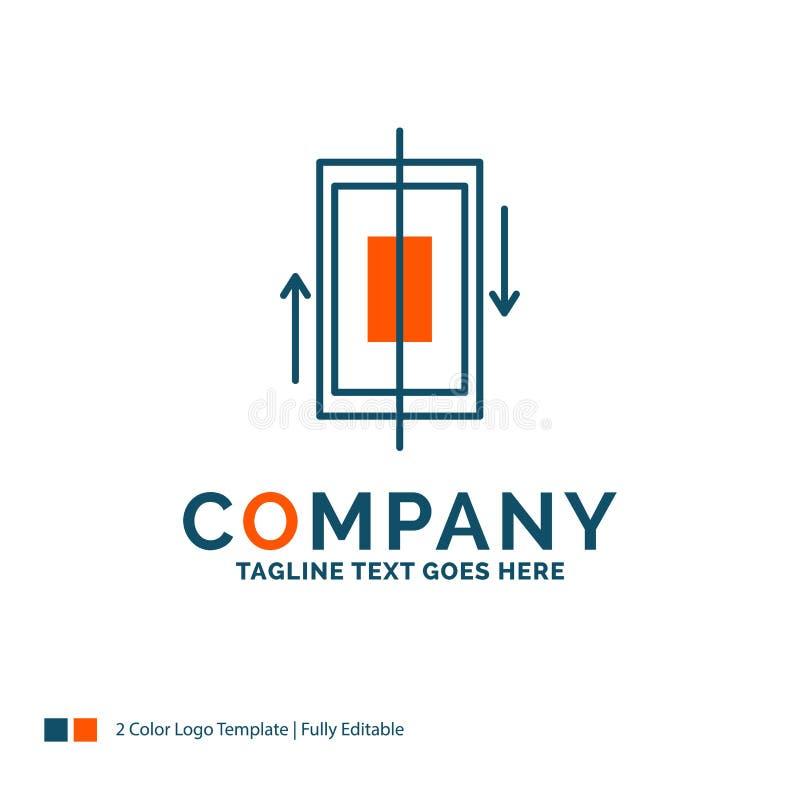 synchronisatie, synchronisatie, gegevens, telefoon, smartphone Logo Design Blauw vector illustratie