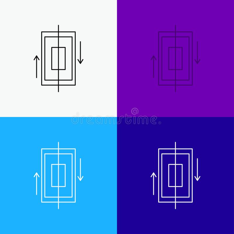 synchronisatie, synchronisatie, gegevens, telefoon, smartphonepictogram over Diverse Achtergrond r Eps 10 royalty-vrije illustratie