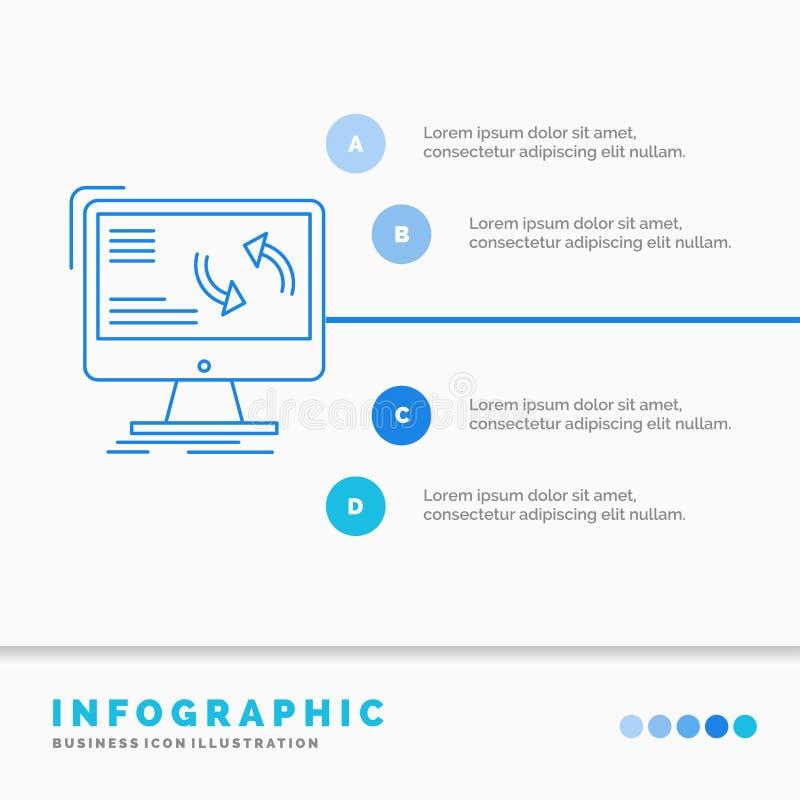 synchronisatie, synchronisatie, informatie, gegevens, het Malplaatje van computerinfographics voor Website en Presentatie r stock illustratie