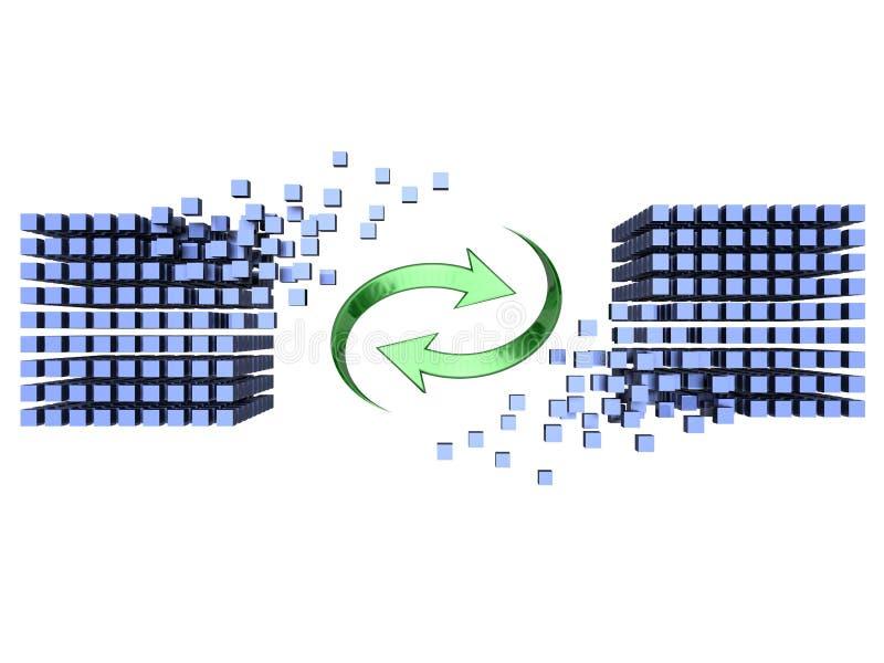 Synchronisation illustration libre de droits