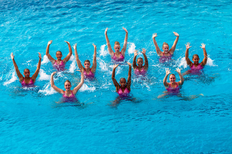 Download Synchronised Swim Team Dance Action Editorial Image - Image: 26183870