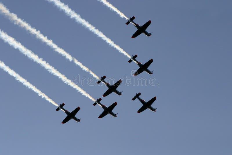 Synchronisierter Teamflug III lizenzfreies stockfoto