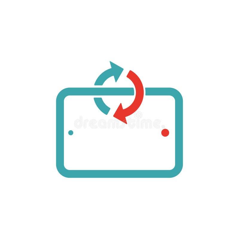 Synchronisierung auf Tablettenlaptop-Vektorillustration lizenzfreie abbildung