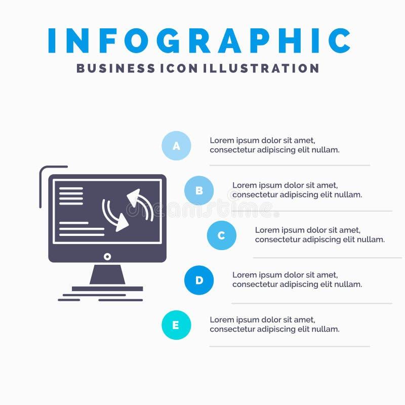Synchronisierung, Synchronisierung, Informationen, Daten, Computer Infographics-Schablone f?r Website und Darstellung Graue Ikone vektor abbildung