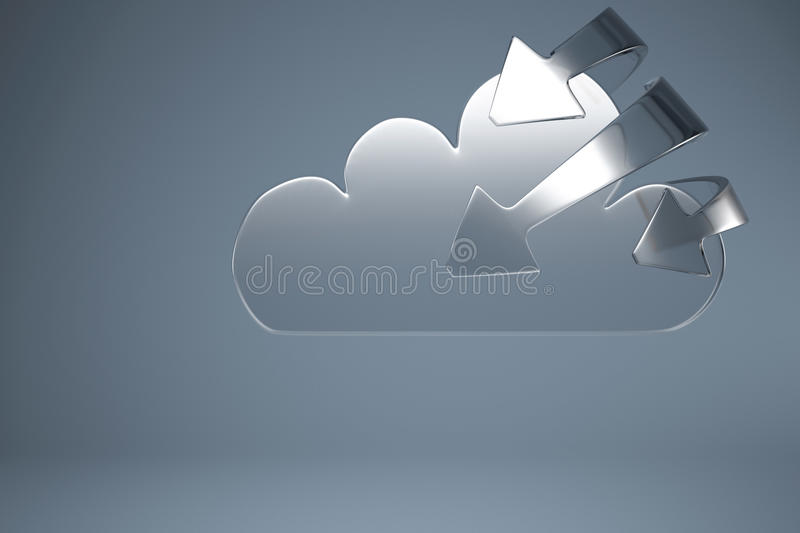 Download Synchronized Service Cloud Computing Stock Illustration - Image: 26000085