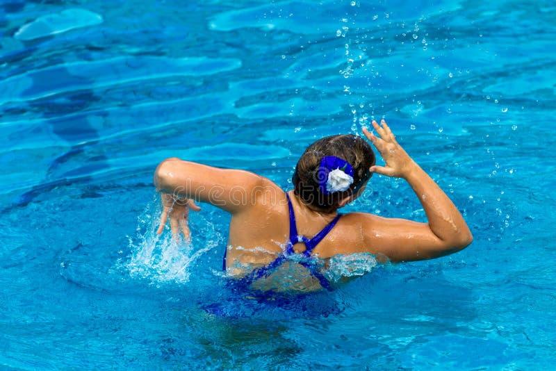 Download Synchronized Swim Girl Dance Pose Editorial Image - Image: 26183470