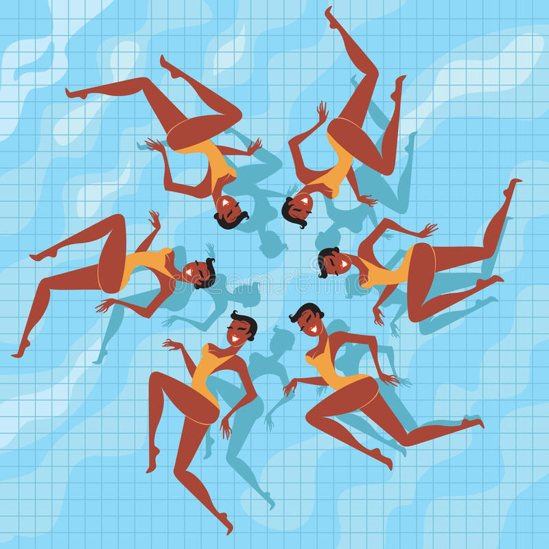 Download Synchronized Swimmers stock vector. Illustration of swimming - 20436467
