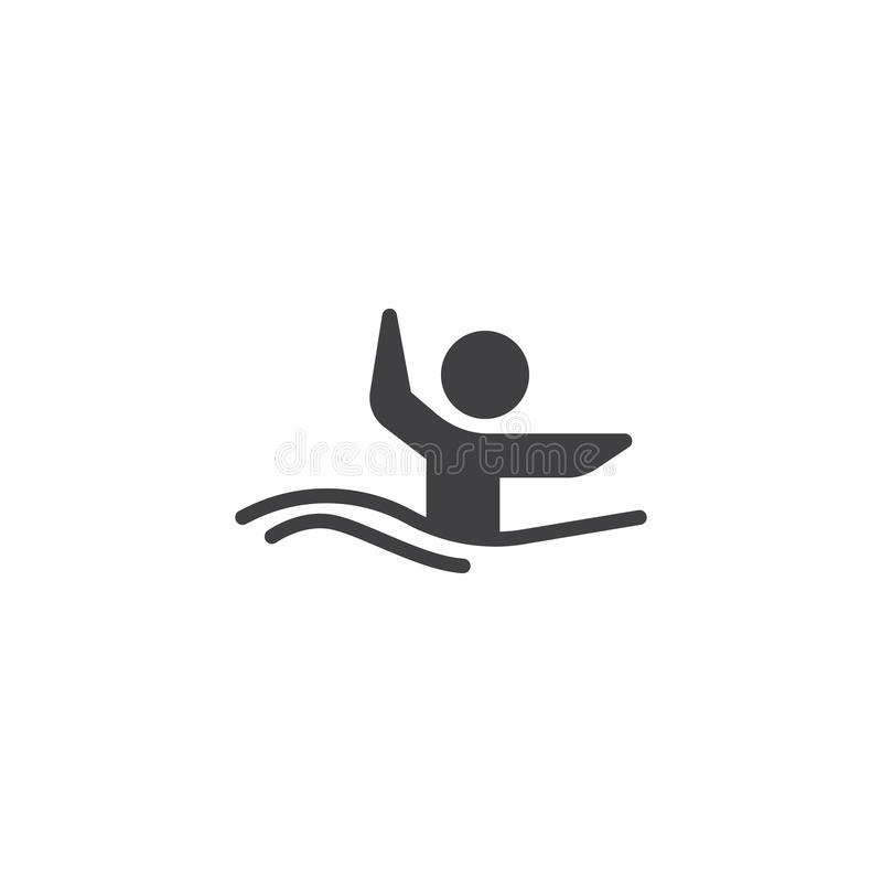 Synchronized swimming athlete vector icon. Filled flat sign for mobile concept and web design. Water sports glyph icon. Symbol, logo illustration. Pixel royalty free illustration