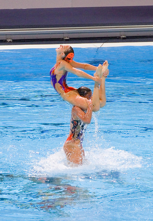 Synchronized swimming - Italy royalty free stock image