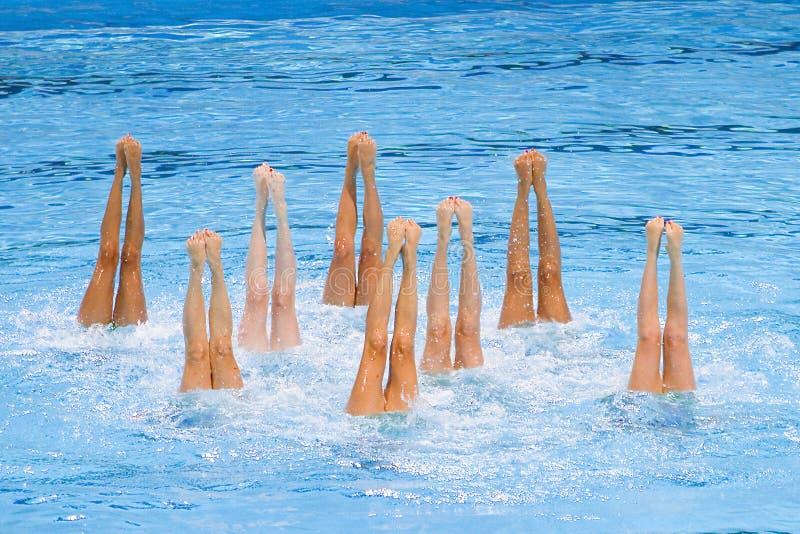 Synchronized swimming - Kazakhstan stock images