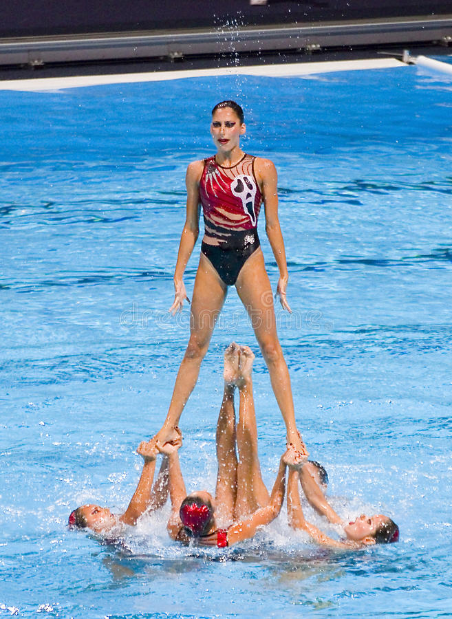Synchronized swimming - Mexico royalty free stock photo