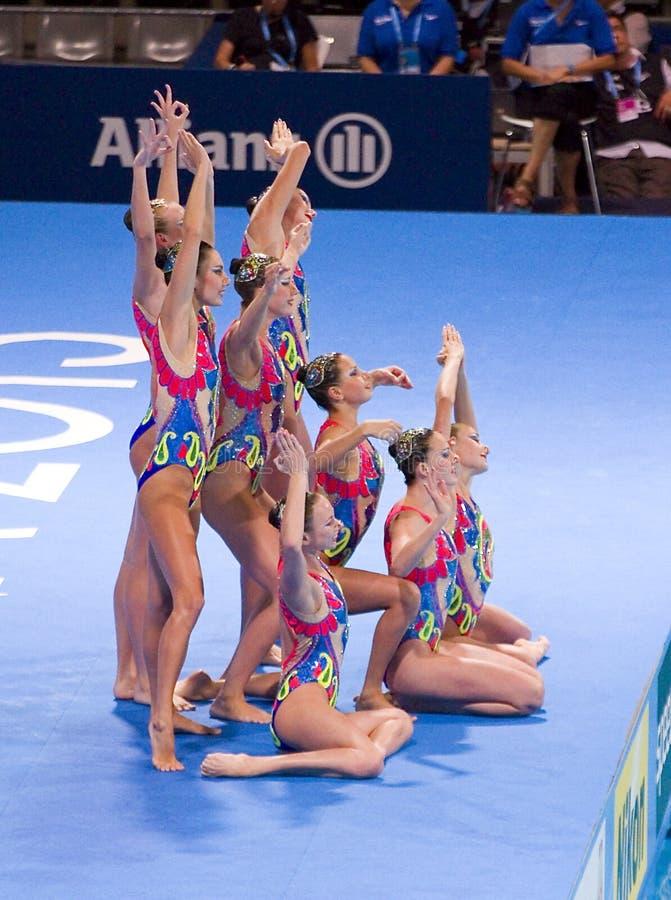 Synchronized swimming - Ukraine stock image