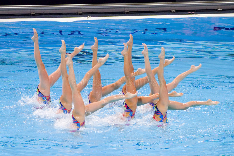 Synchronized swimming - Ukraine royalty free stock images