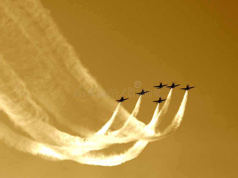 Download Synchronized team flight V stock photo. Image of team, fighter - 15032