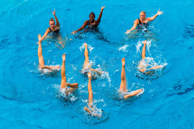 Download Synchronized Girls Pool Dance Editorial Photography - Image: 26887437