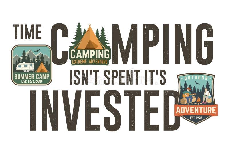 Synchronizuje campingowego isn t wydawał je s inwestujący Projekt dla koszulki, trójnika, druku lub odzieży, Nowożytny typografia ilustracja wektor